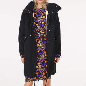 NWT Zara Hooded Parka with removable lining